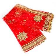 Navratri Devi Embroidered Chunni Netted Puja Cloth