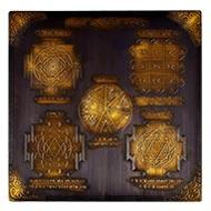 Shree Sarva Karya Siddhi Maha yantra - Antique finish - 9 inches