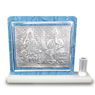 Laxmi Ganesh silver plated pen stand