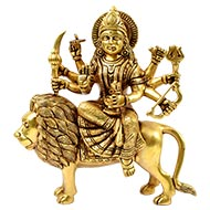 Maa Durga in Brass - VI
