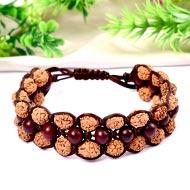 Rudraksha and Red sandal beads bracelet - II