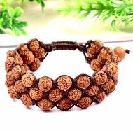 Rudraksha and White sandal beads bracelet - IV
