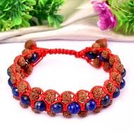 Rudraksha with Sandal beads and Lapis Lazuli beads bracelet