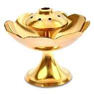 Flower Shape Agarbatti Stand in Brass