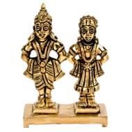 Lord Vitthal with Laxmi Brass Idol