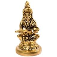 Brass Goddess Annapurna Idol