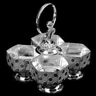 Haldi Kumkum Container in Silver - III