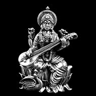 Saraswati idol in Silver