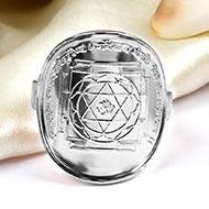 Shree Gayatri Yantra Ring in Silver
