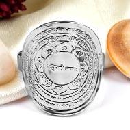 Panchmumkhi Hanuman Yantra Ring in  Silver