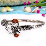 Trishul Designer Kada in Pure silver - IV