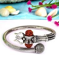 Trishul Designer Kada in Pure silver - V