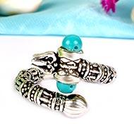 Trishul Silver Ring
