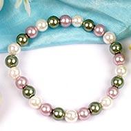 Multicoloured Pearl Bracelet - 8 mm