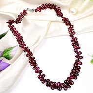 Garnet beads Mala