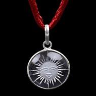 Surya Locket in Crystal - II