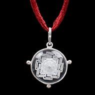 Shree Yantra Locket in Sphatik Crystal with Etched Yantra - I