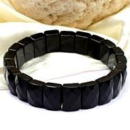 Black Jade rectangle Faceted Beads Bracelet