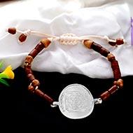 Gayatri Bisa Yantra in Silver Bracelet