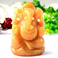 Yellow Jade Ganesha - 134 gms