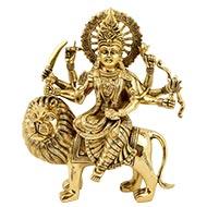 Durga Maa Sherawali in brass - Design IV