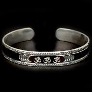 OM  Bracelet - Pure Heavy Silver
