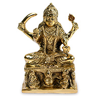 Santoshi Maa statue in brass - IV