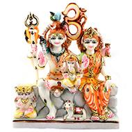 Shiv Parivar marble idol - I