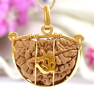 One Mukhi Half moon in Gold
