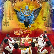 Shani (Saturn) grah puja mantra japa and Yajna