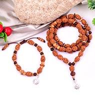 3 mukhi Agni mala and bracelet set