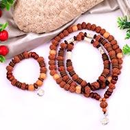 7 mukhi Laxmi mala and bracelet set