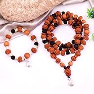 9 mukhi Durga mala and bracelet set