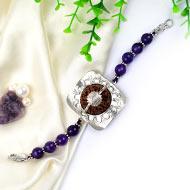 5 Mukhi and Amethyst Bracelet (Crown)