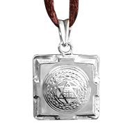 Kuber Yantra Locket in Silver - 3D