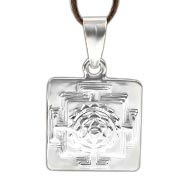 Baglamukhi Yantra Locket in Silver - 3D