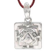 Ganesh Yantra Locket in Silver - 3D