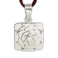 Katyayani Yantra Locket in Silver - 3D