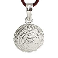 Maha Sudarshan Yantra Locket in Silver - 3D
