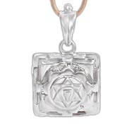 Gayatri Yantra Locket in Silver - 3D