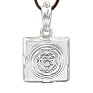 Pratyangira Yantra Locket in Silver - 3D