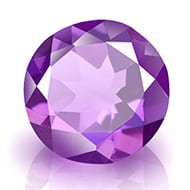 Amethyst - 3 to 4 carats - Round