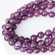 Amethyst beads mala - 6 mm