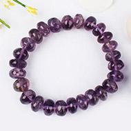 Amethyst Bracelet - Elliptical Beads - II