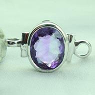 Amethyst bracelet in pure silver