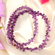 Amethyst Drops Necklace