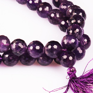 Amethyst necklace faceted - 12 mm