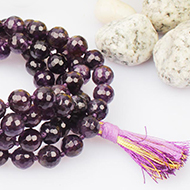 Amethyst necklace faceted - 8mm