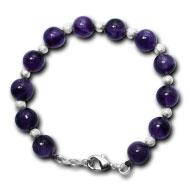 Amethyst Round Bracelet - 10mm
