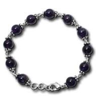 Amethyst Round Bracelet - Design I